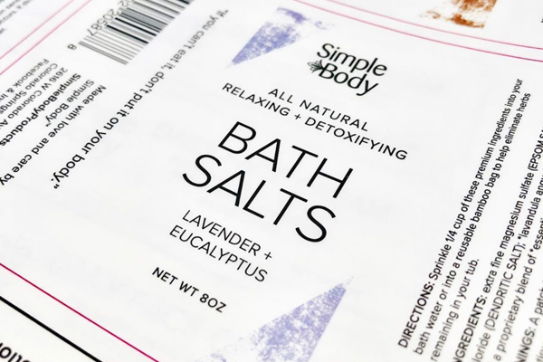 Simple Body Products Labels